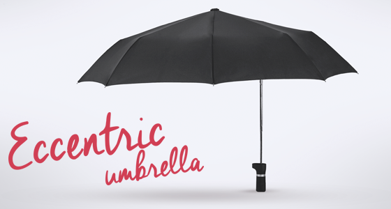 eccentric umbrella for two persons